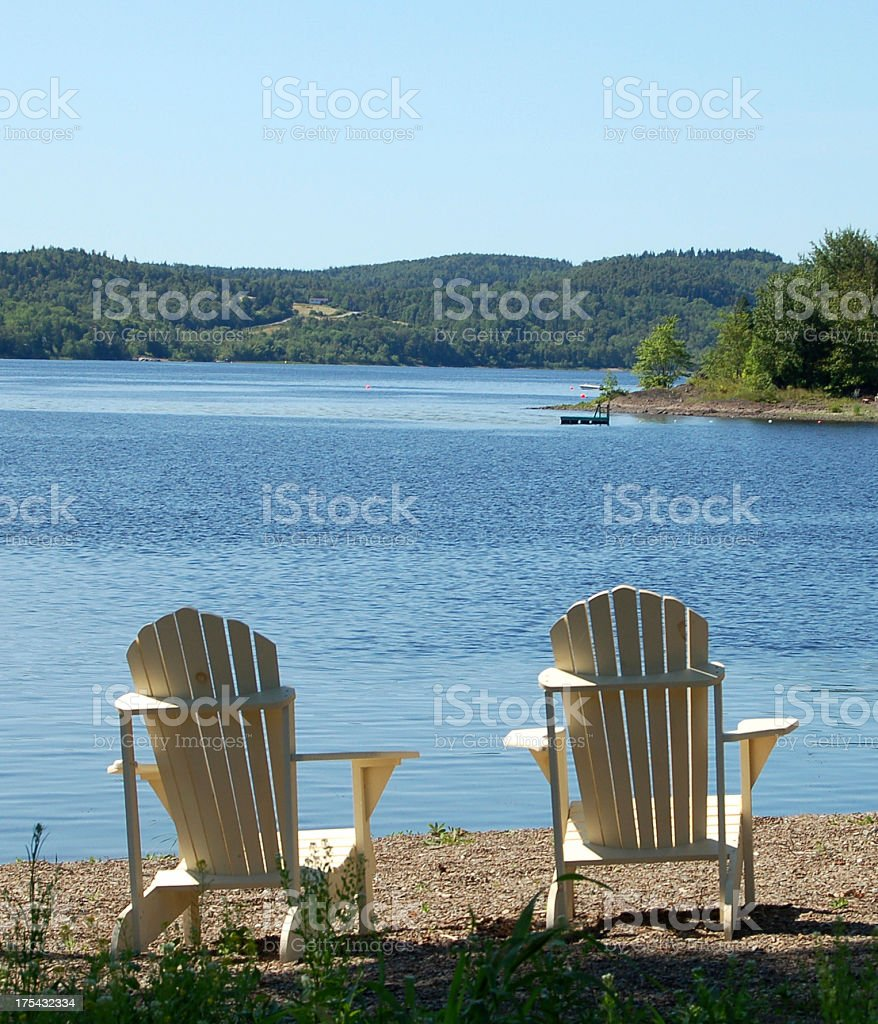 Belleisle Two Chairs royalty-free stock photo