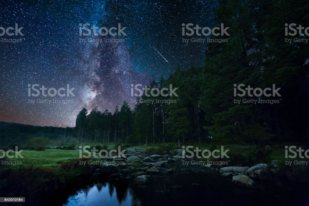Bellever at Night stock photo