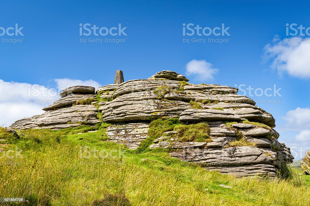 Bellever Tor in Devon, England stock photo