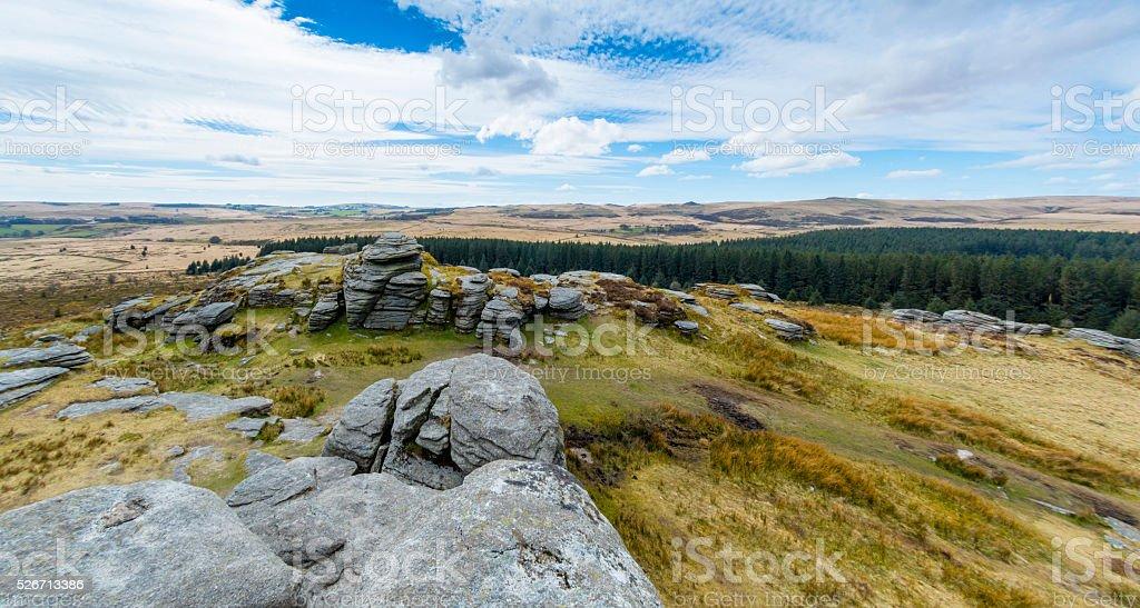 Bellever Tor on Dartmoor stock photo