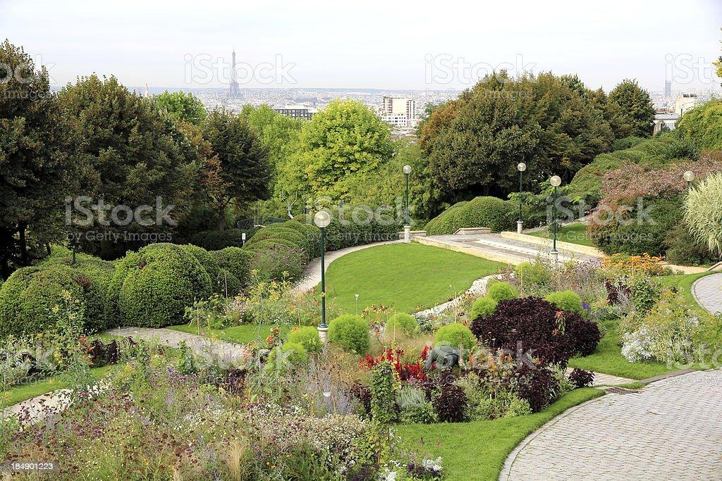 Belleville Park in Paris stock photo