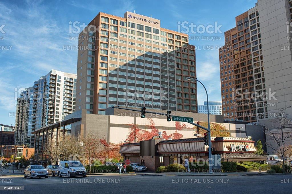 Bellevue Downtown stock photo