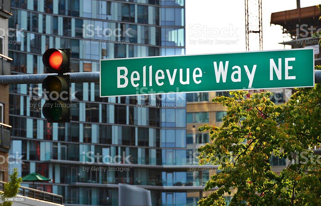Bellevue Way NE,WA stock photo