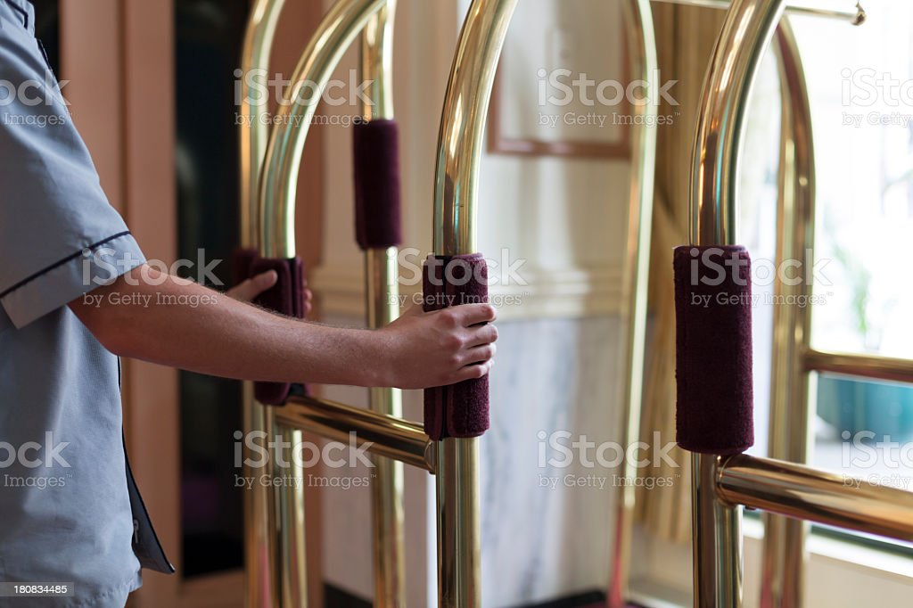 Bellhop royalty-free stock photo