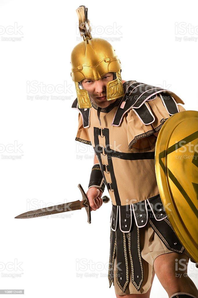 Belligerent  gladiator stock photo