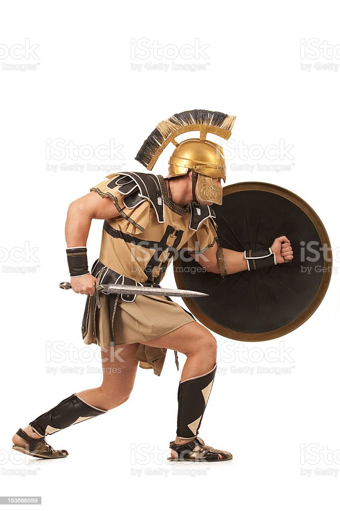 Belligerent  gladiator royalty-free stock photo