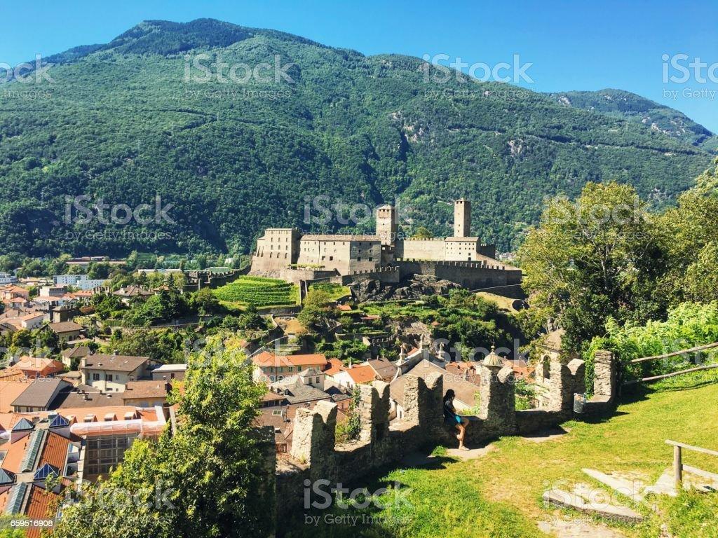 Bellinzona Castles stock photo
