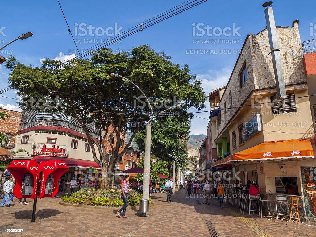 Bello pedestrian mall, Medellin, Colombia stock photo