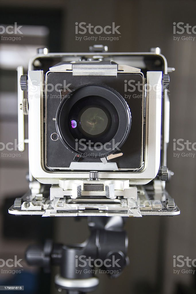 Bellows camera in studio royalty-free stock photo