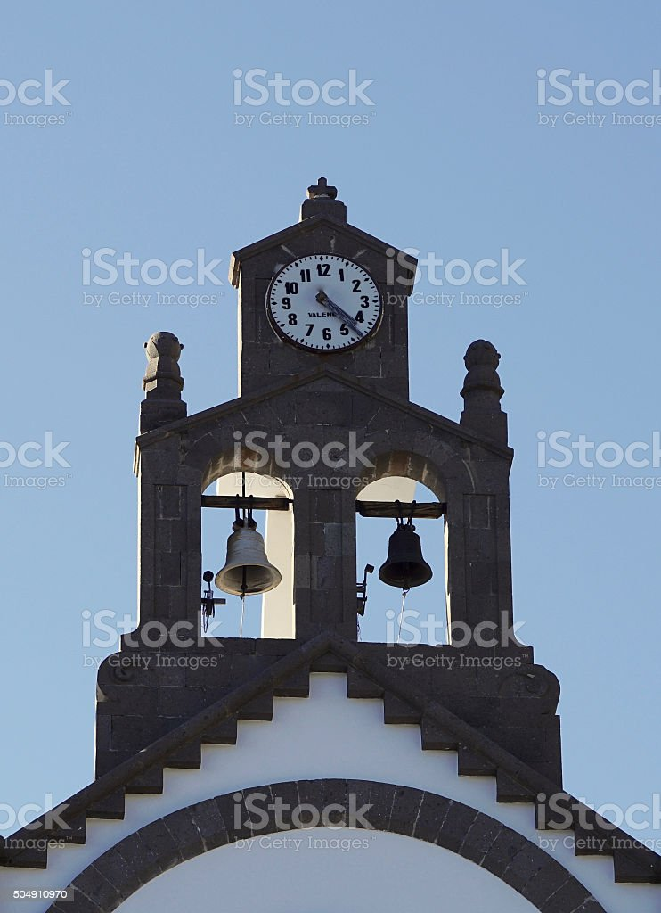 bell-ringing at a historical steeple stock photo