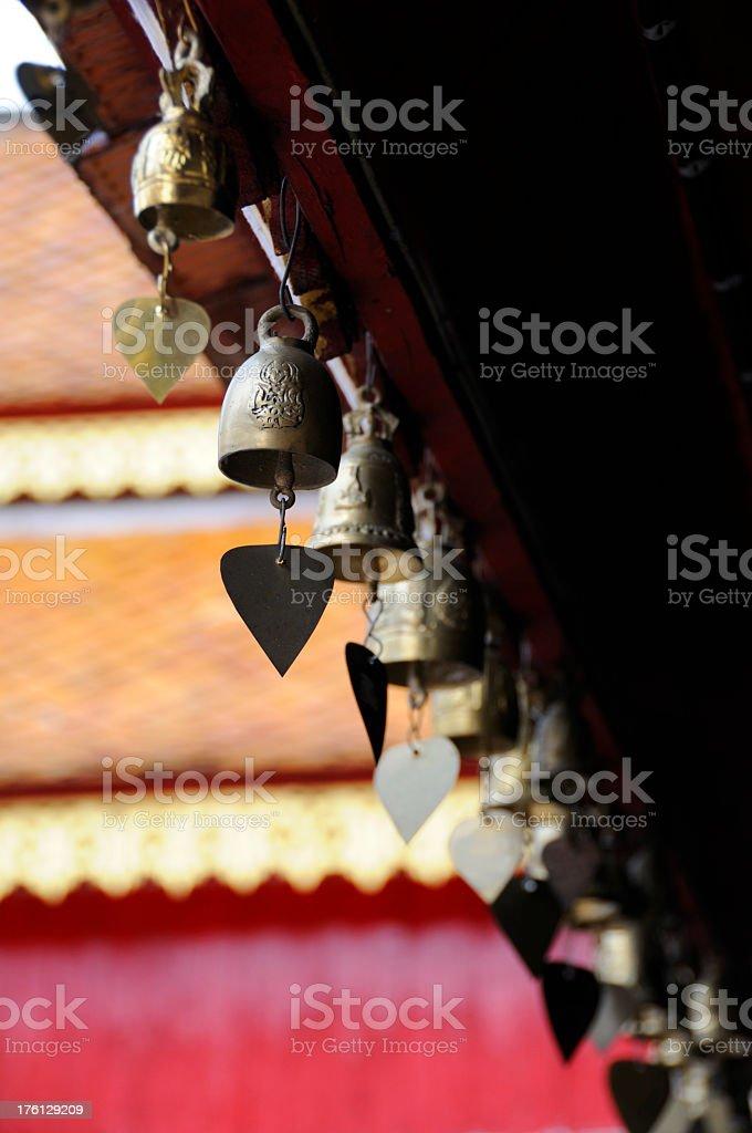 Bells at Doi Suthep stock photo