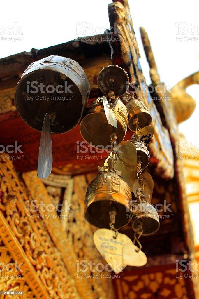 Bells at Wat Phra That Doi Suthep stock photo