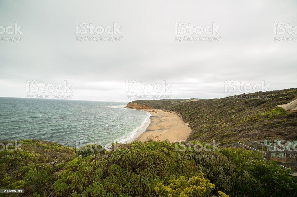 Bells beach, Great Ocean Road in Victoria, Australia stock photo