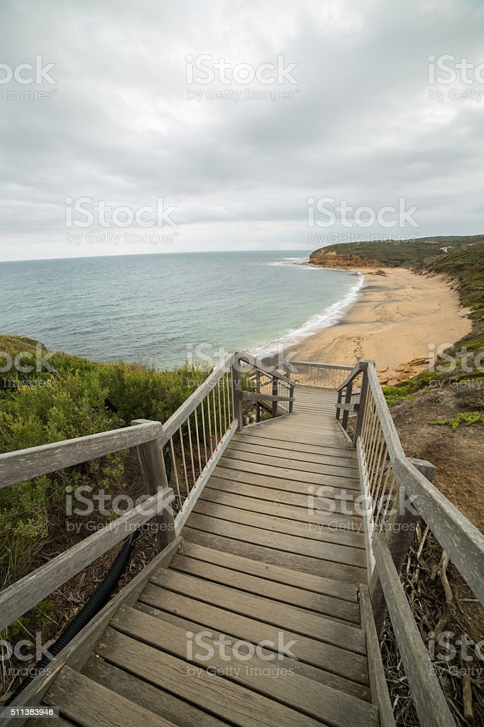 Bells Beach, State of Victoria, Australia in Surf Coast Shire stock photo