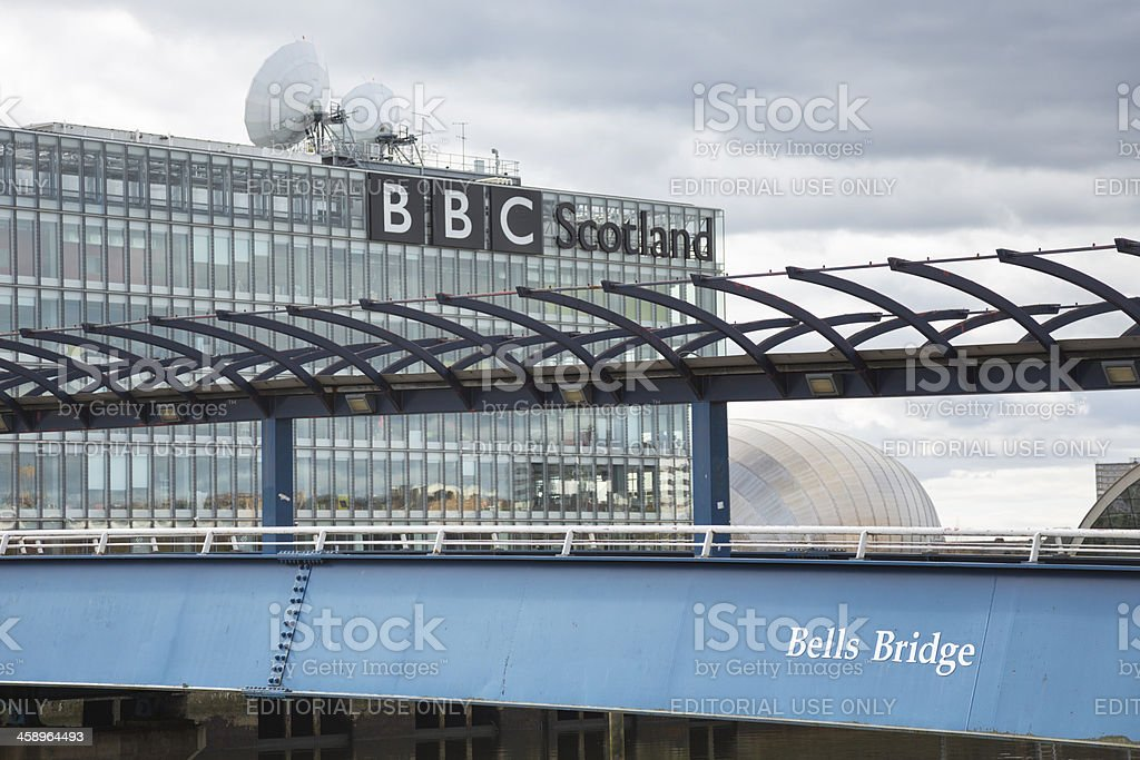 Bells Bridge Over The River Clyde, Glasgow stock photo