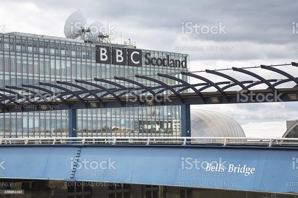 Bells Bridge Over The River Clyde, Glasgow stock photo
