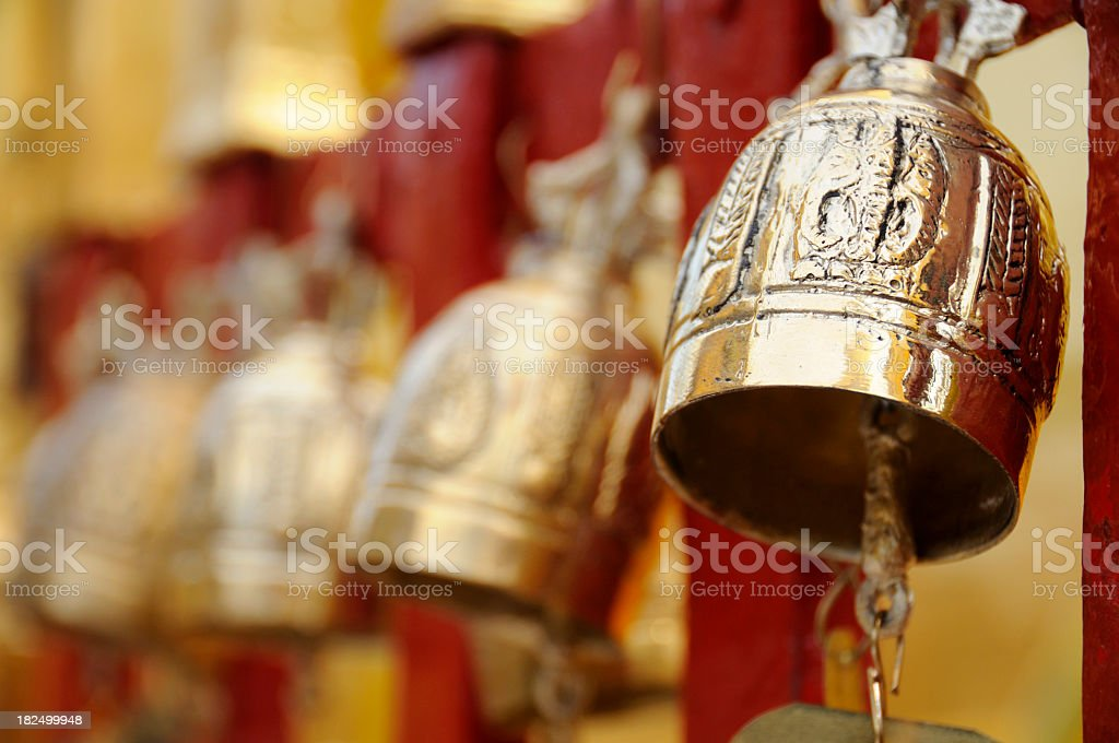 Bells, Doi Suthep, Chiang Mai, Thailand royalty-free stock photo