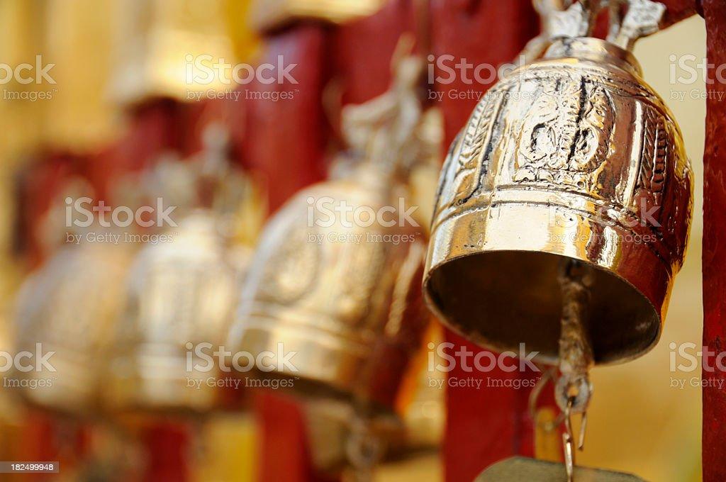 Bells, Doi Suthep, Chiang Mai, Thailand stock photo