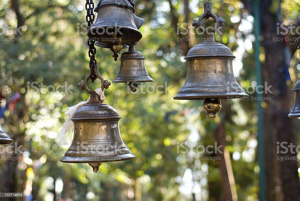 bells hanging stock photo
