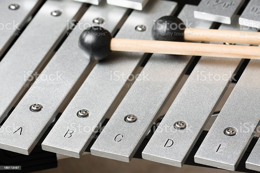 Bells (Xylophone) Keys and Mallets stock photo