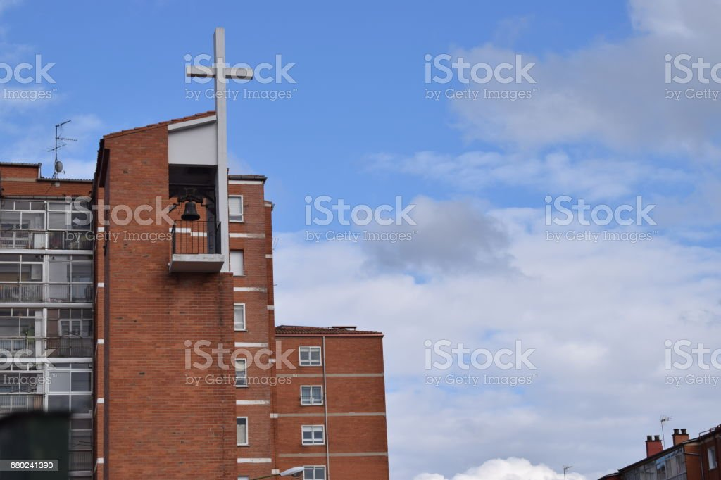 Bells of modern churches. stock photo
