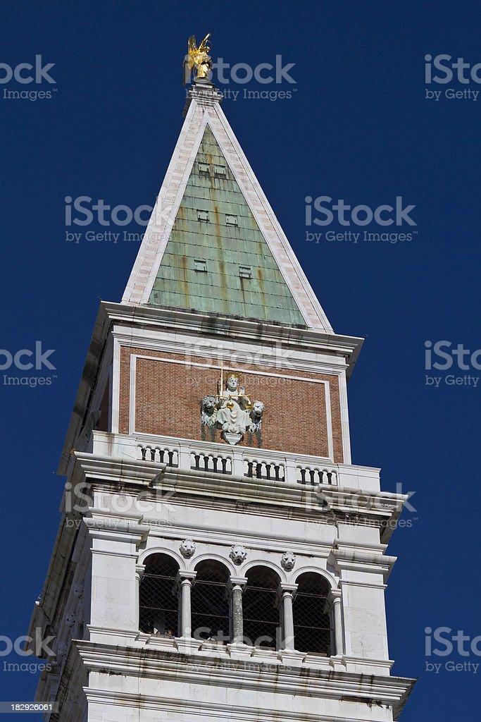 Belltower in Venice under blue sky royalty-free stock photo