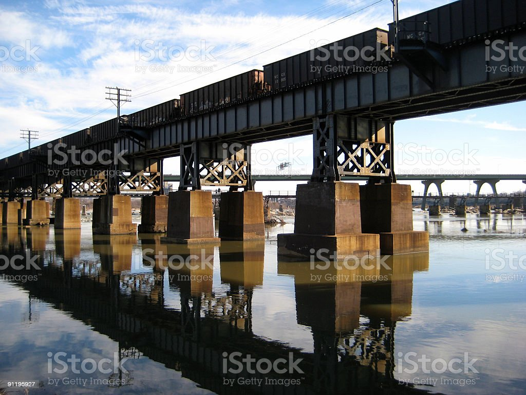 CSX Bellwood Subdivision James River Bridge stock photo