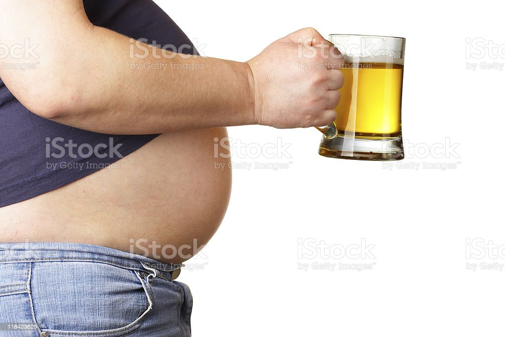 Belly and beer royalty-free stock photo