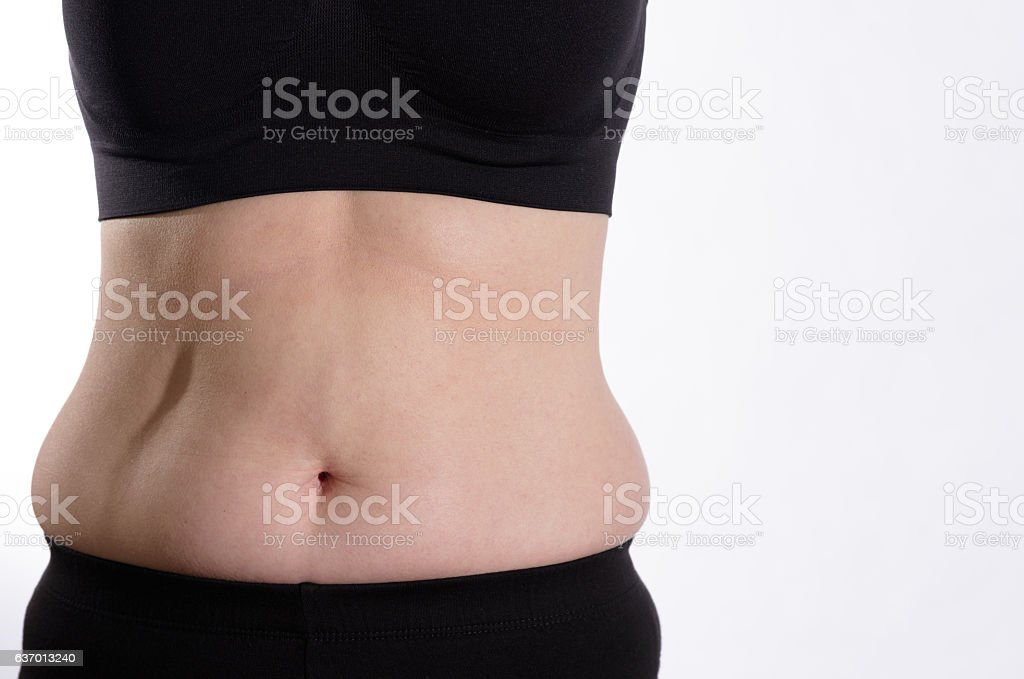 Belly Bulge Front View stock photo