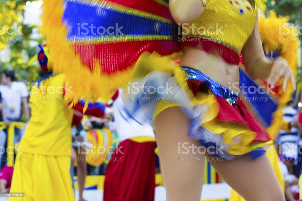 Belly dance in carnival royalty-free stock photo