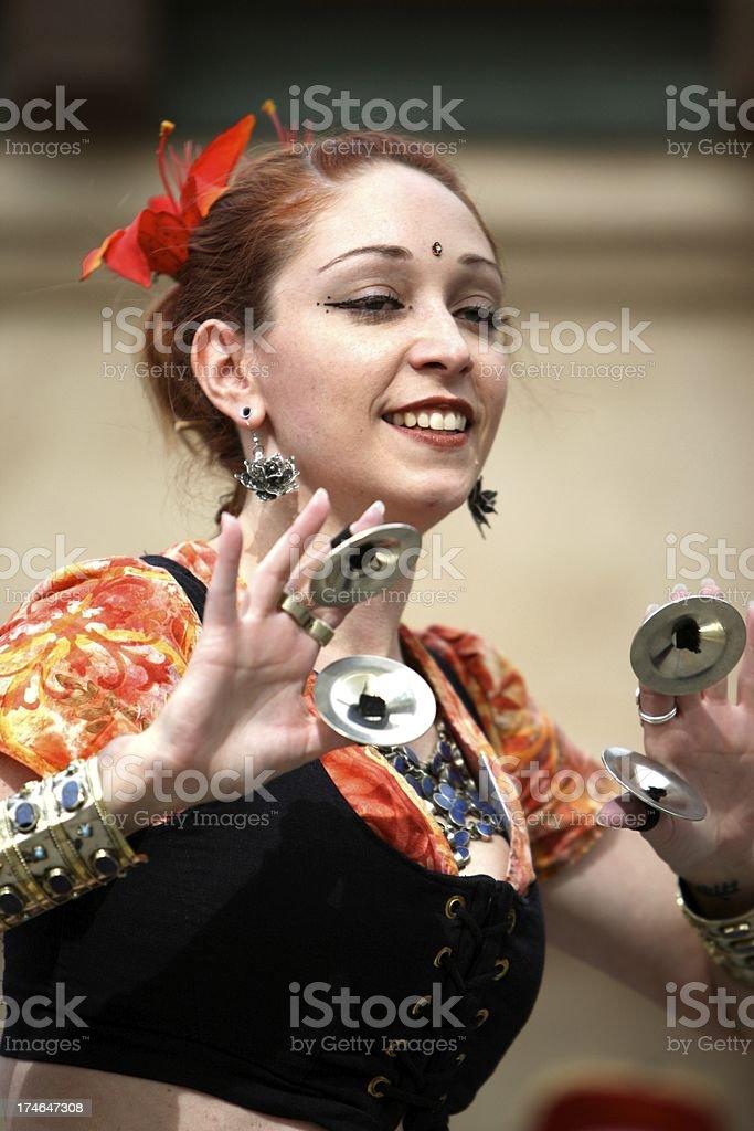 Danzatrice del ventre clic foto stock royalty-free
