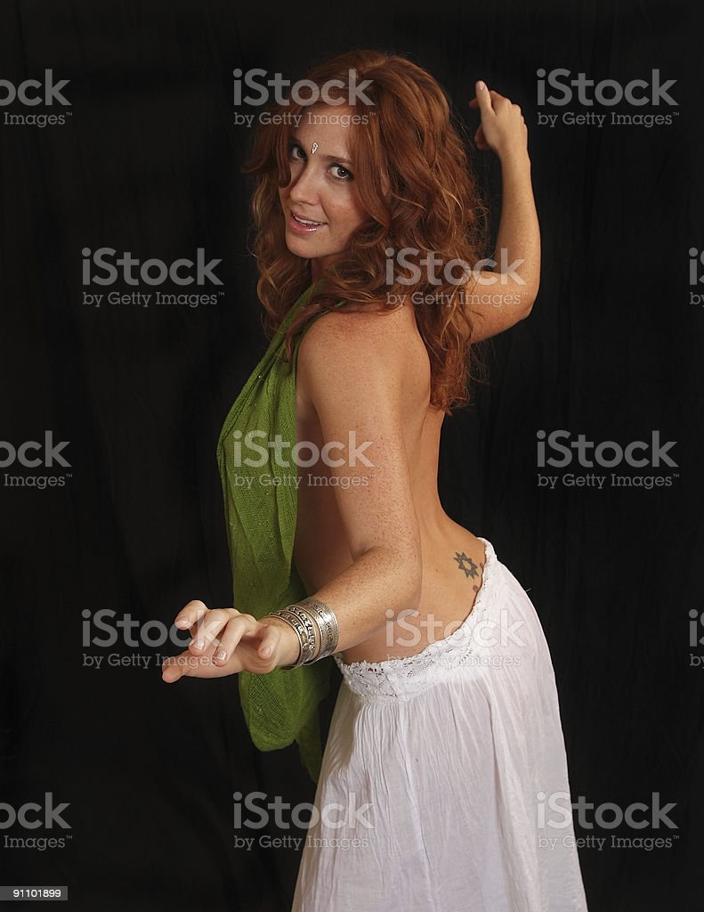 belly dancer dancing royalty-free stock photo