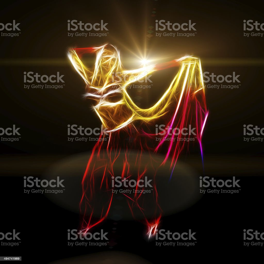 Belly dancer holding skirt royalty-free stock photo