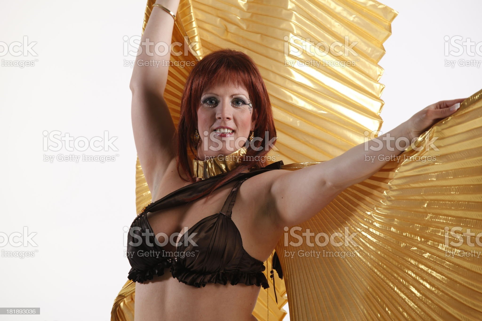 Belly dancer in pose royalty-free stock photo