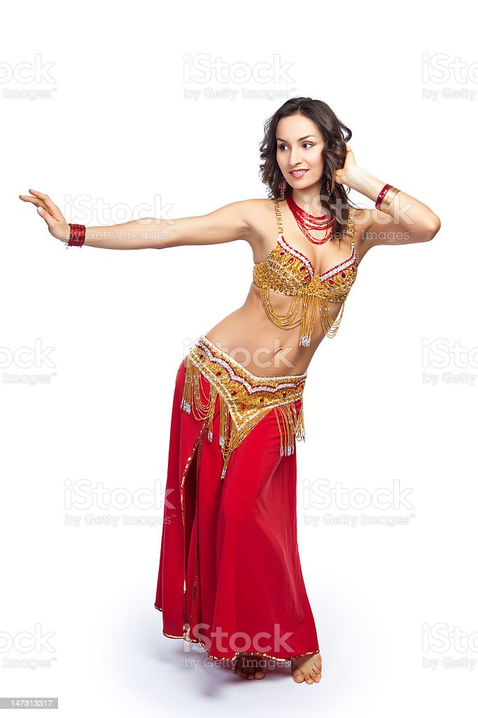 Belly dancer stock photo
