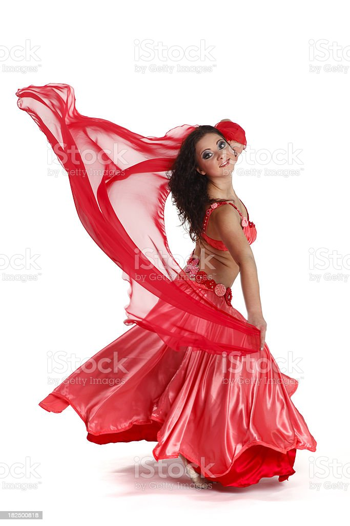 Belly dancer  spinning royalty-free stock photo