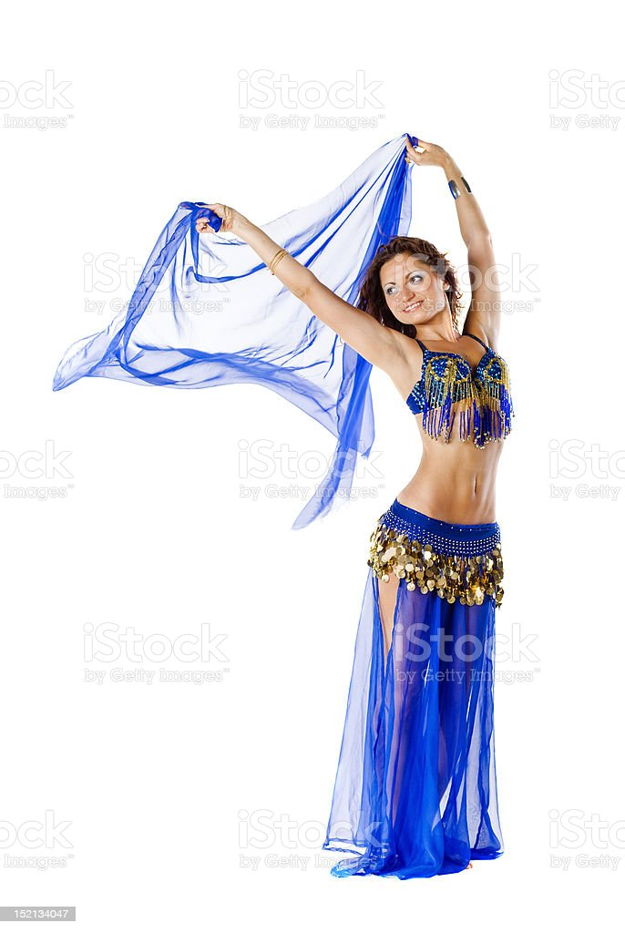 Belly Dancer with shawl stock photo
