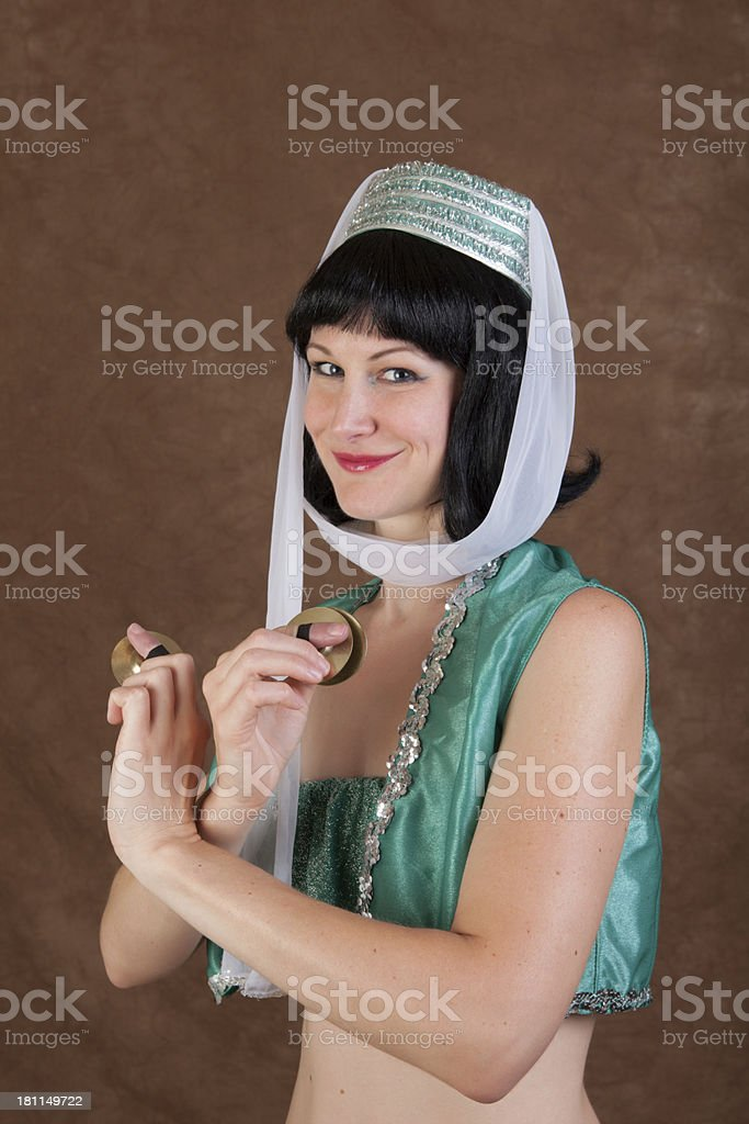 Belly Dancer wtih Zills stock photo
