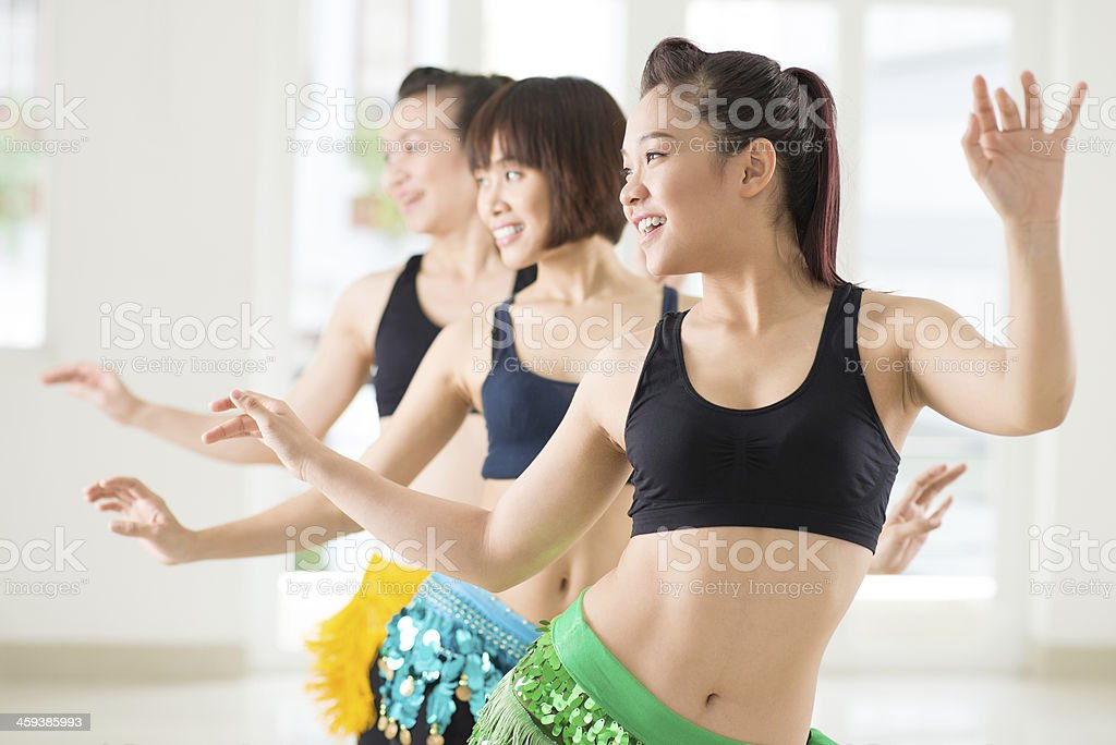 Belly dancing stock photo