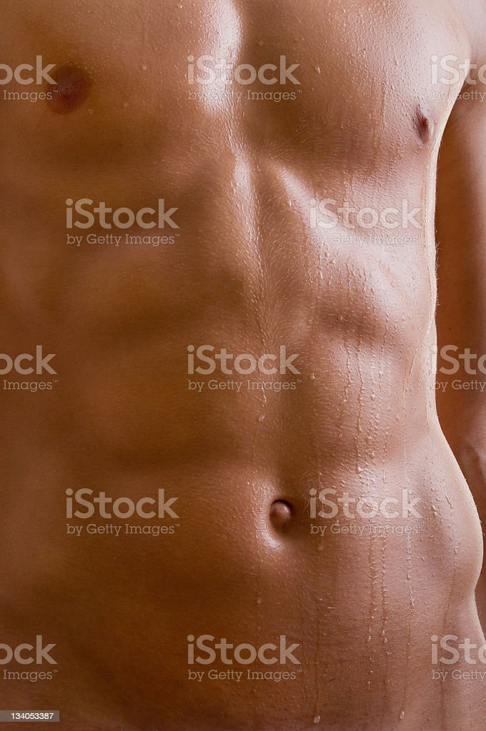 belly naked male body royalty-free stock photo