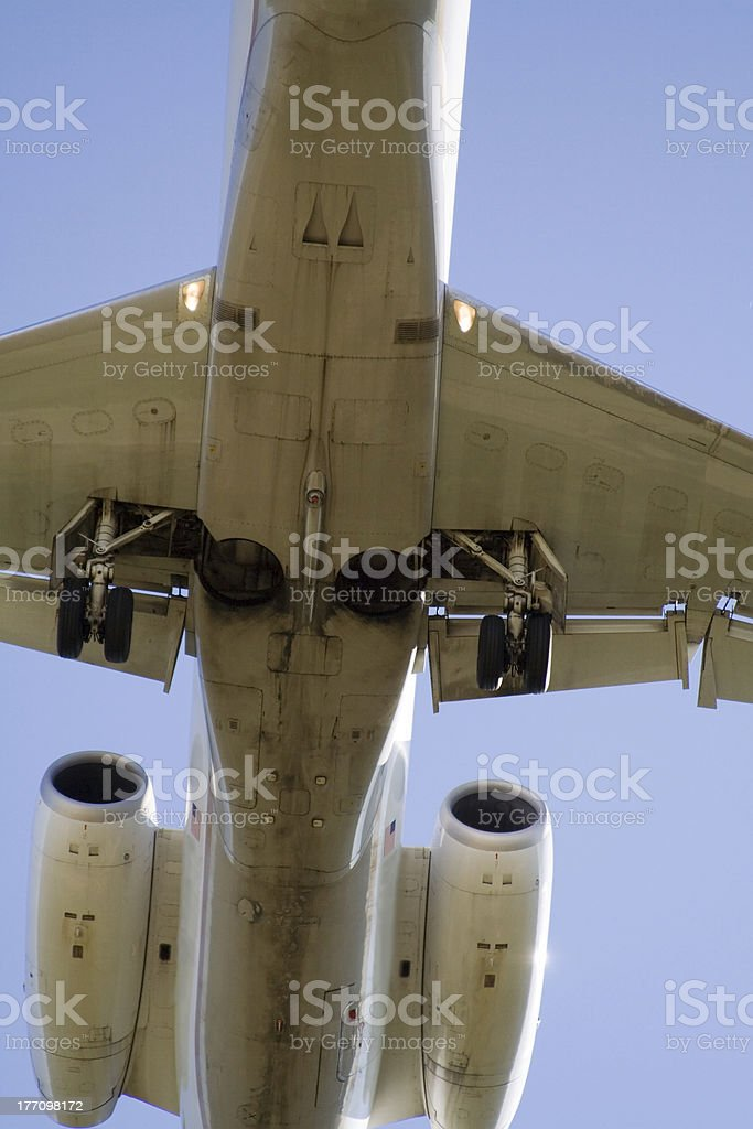 Belly of a Jet royalty-free stock photo