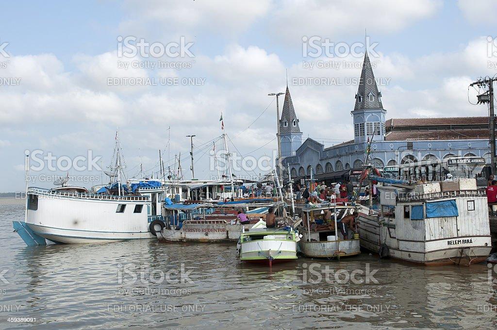 Belém and the Ver o Peso market stock photo