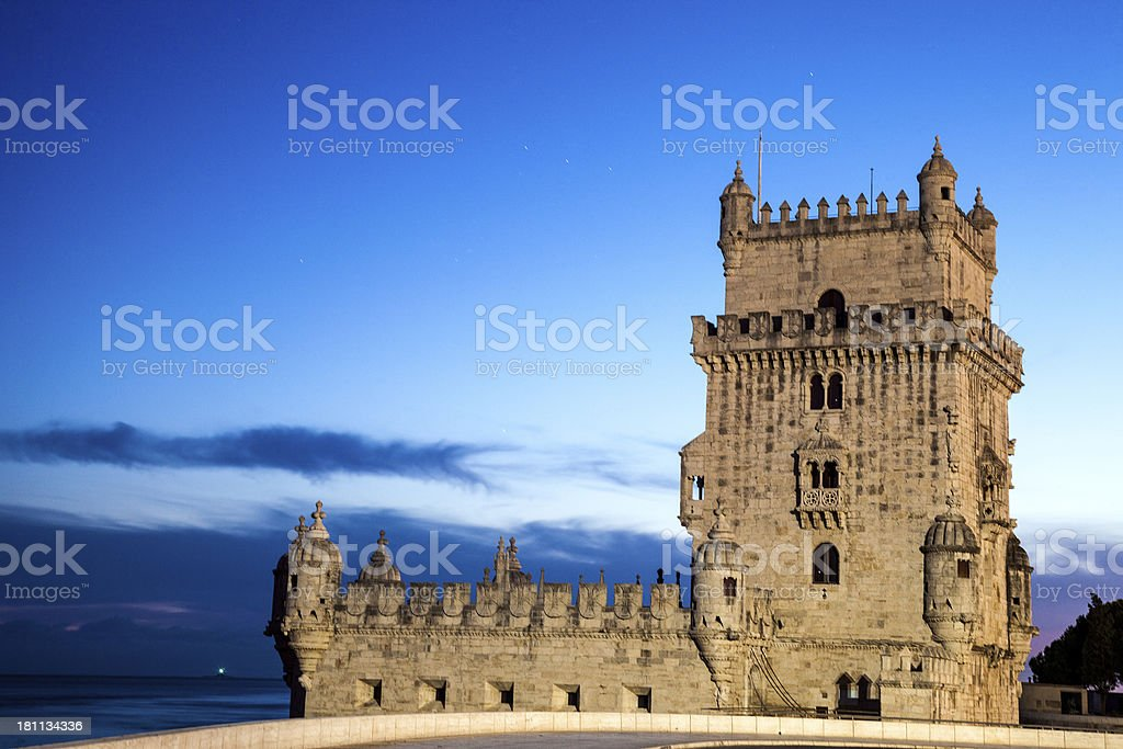Belèm Tower in Lisbon royalty-free stock photo