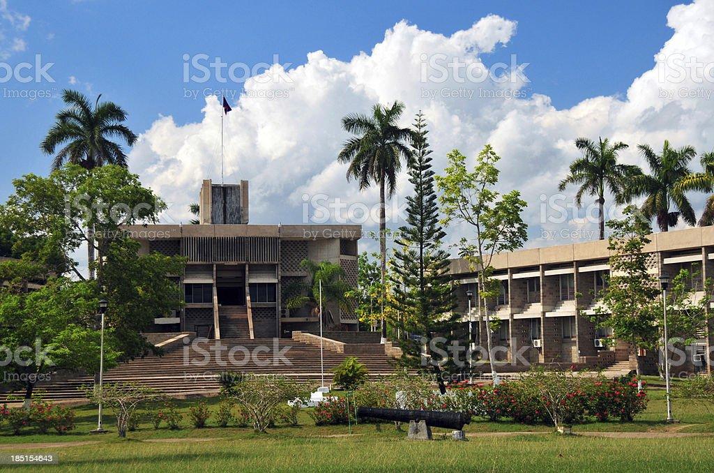 Belmopan, Belize: the Parliament stock photo
