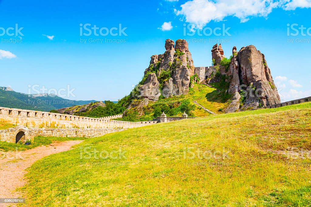 Belogradchik Kaleto, ancient fortress, tourist attraction stock photo