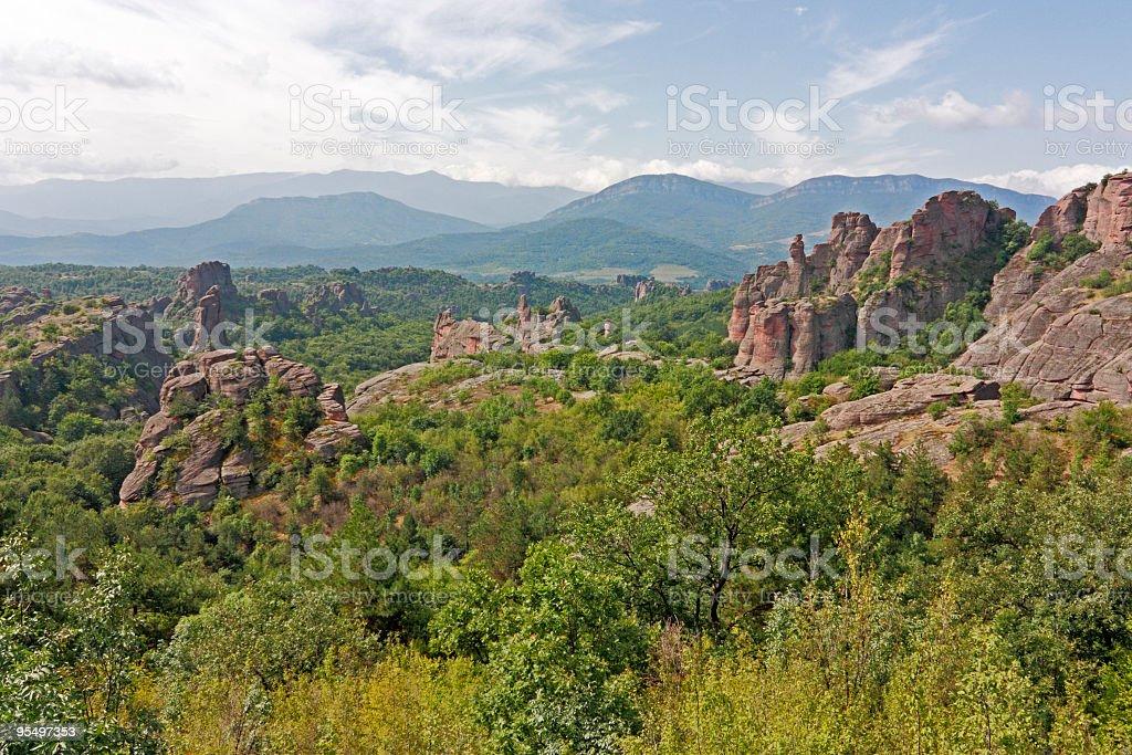 Belogradchik Rocks formation phenomenon stock photo