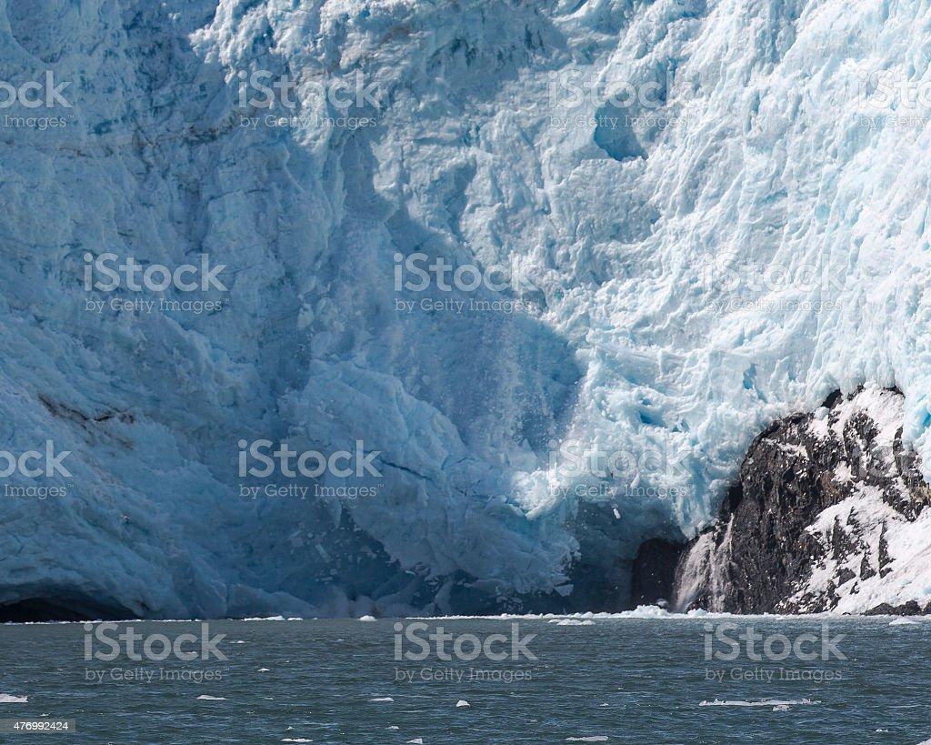 Beloit Glacier Calving stock photo