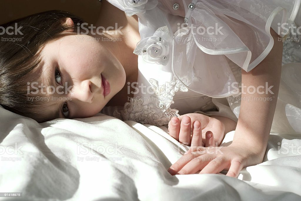 beloved daughter royalty-free stock photo