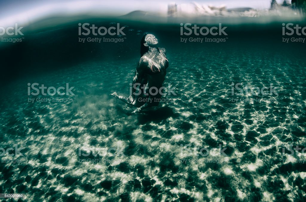 below the surface stock photo