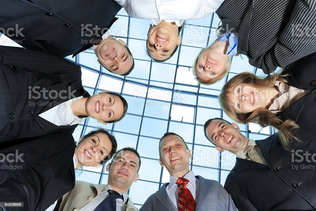 Below view of business people. royalty-free stock photo